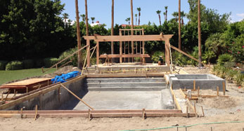 Pool construction palm springs