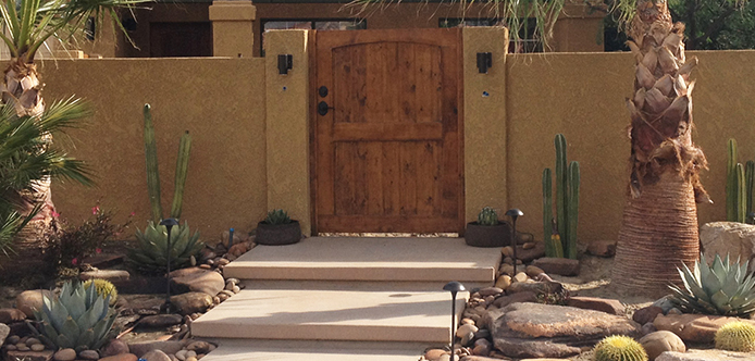 custom front entry gate